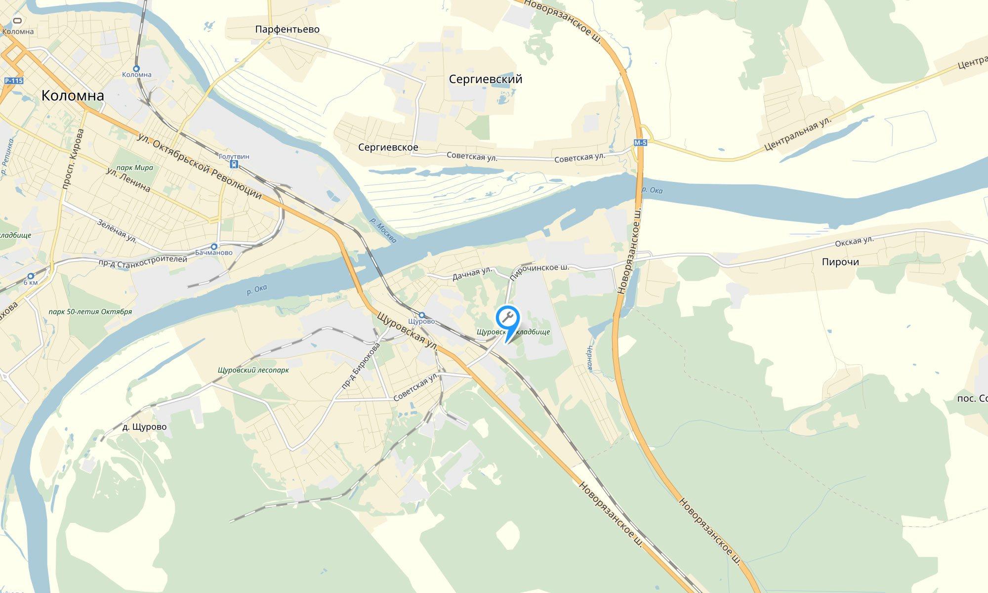 Круглосуточный автосервис в Коломне: Контакты